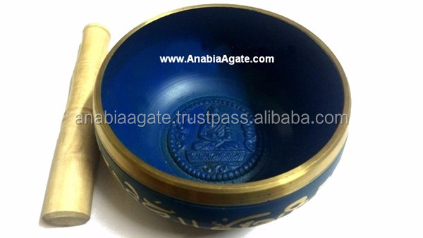 Tibetan Buddhist Meditation Singing Bowls With Embossed Buddha