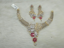 Light weight daily wear ameerican diamond jewelry for women