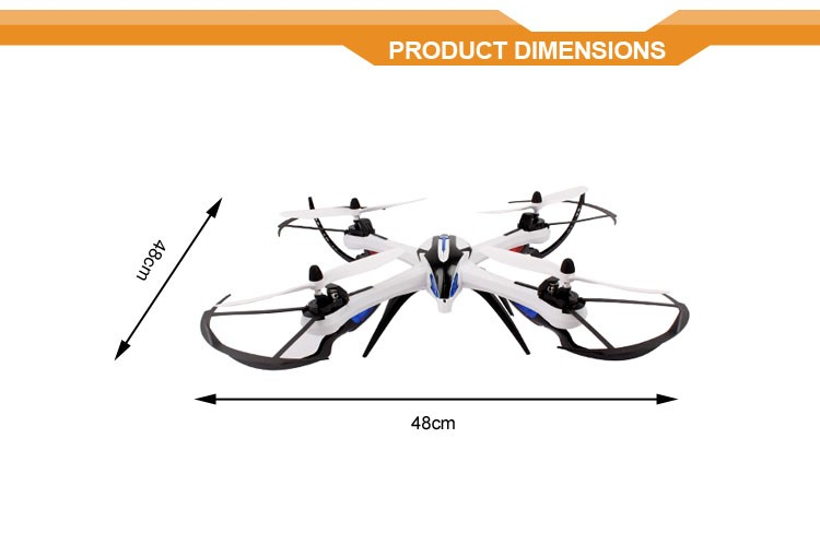 New products 2016 innovative product! 2.4 G rc drone/quadcopter/aerocraft uav long flight time with 6-axle gyro VS bebop