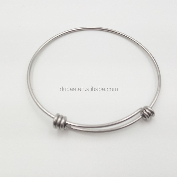 Fashion Jewelry 2017 Adjustable Stainless Steel Handmade Bangle