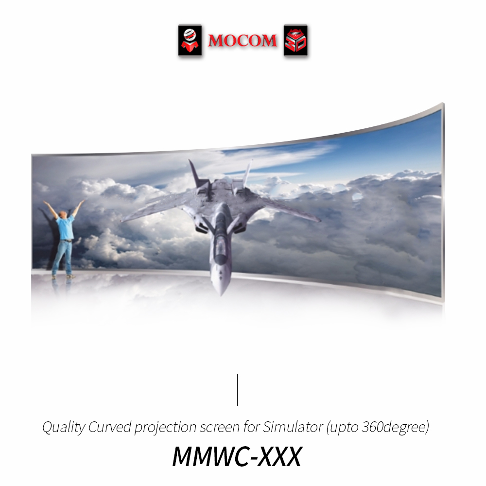Quality Curved projection screen for Simulator (upto 360degree) / Made in Korea