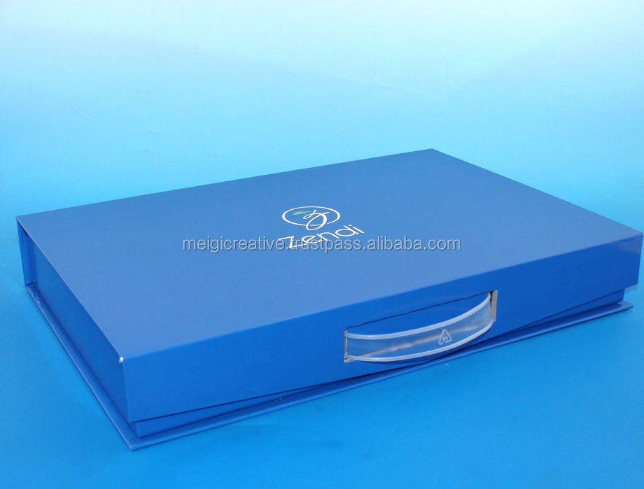 Two Pieces rigid set-up box with insert tray, chipboard box