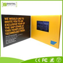 Digital Exports 4.3 video booklet, lcd upscale video card, 2017 newest video brochure