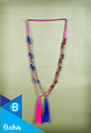 Top Model Bali Long Beaded Tassel Necklaces Knotted in Handmade