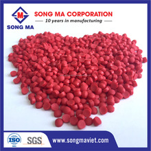 High quality red color masterbatch manufacturer and filler masterbatch from Vietnam