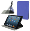 Slim line lightweight Multi-Angle shell case w/ Vegan synthetic leather, microfiber interior for iPad Mini roocase (Blue)