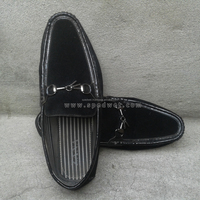 High quality black velvet dress men shoes with metal tassel