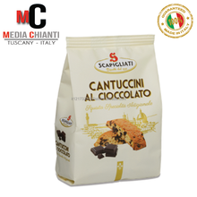 Top Quality Italian Specialty CHOCOLATE CANTUCCINI biscuits cookies (250 gr. bag)
