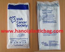 100% Compostable Custom charity donation bags for cloths packing