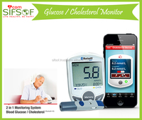Bluetooth Low Energy Glucometer, 10 sec Glucose Measurement, 30 sec Cholesterol Measurement, SIFGLUCO-3.1