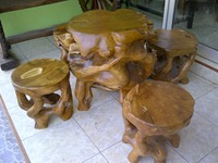 Characteristics natural TEAK wood furniture