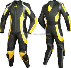 Motorbike leather suit/With your logos, motorcycle racing