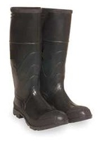 D0324 Knee Boots Men 9 Steel Toe Blk 1PR