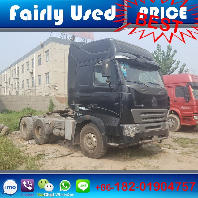 Good condition 6x4 used Sinotruck Howo A7 truck head of A7 tractor truck head with trailer
