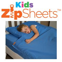Kids Zip Sheets for cot, single, king single, double, queen, custom size, zip up sheet, stay put bed sheet, zip in bed sheet,