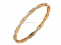 14k Yellow Gold Jewellery Chanchari Bangle Beautiful Designer Bangle bracelet in Fine Handcrafted Diamond Jewelry