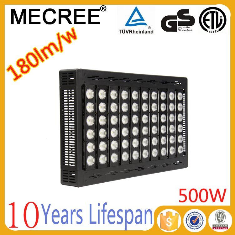 High lumen top quality outdoor led flood light 500w