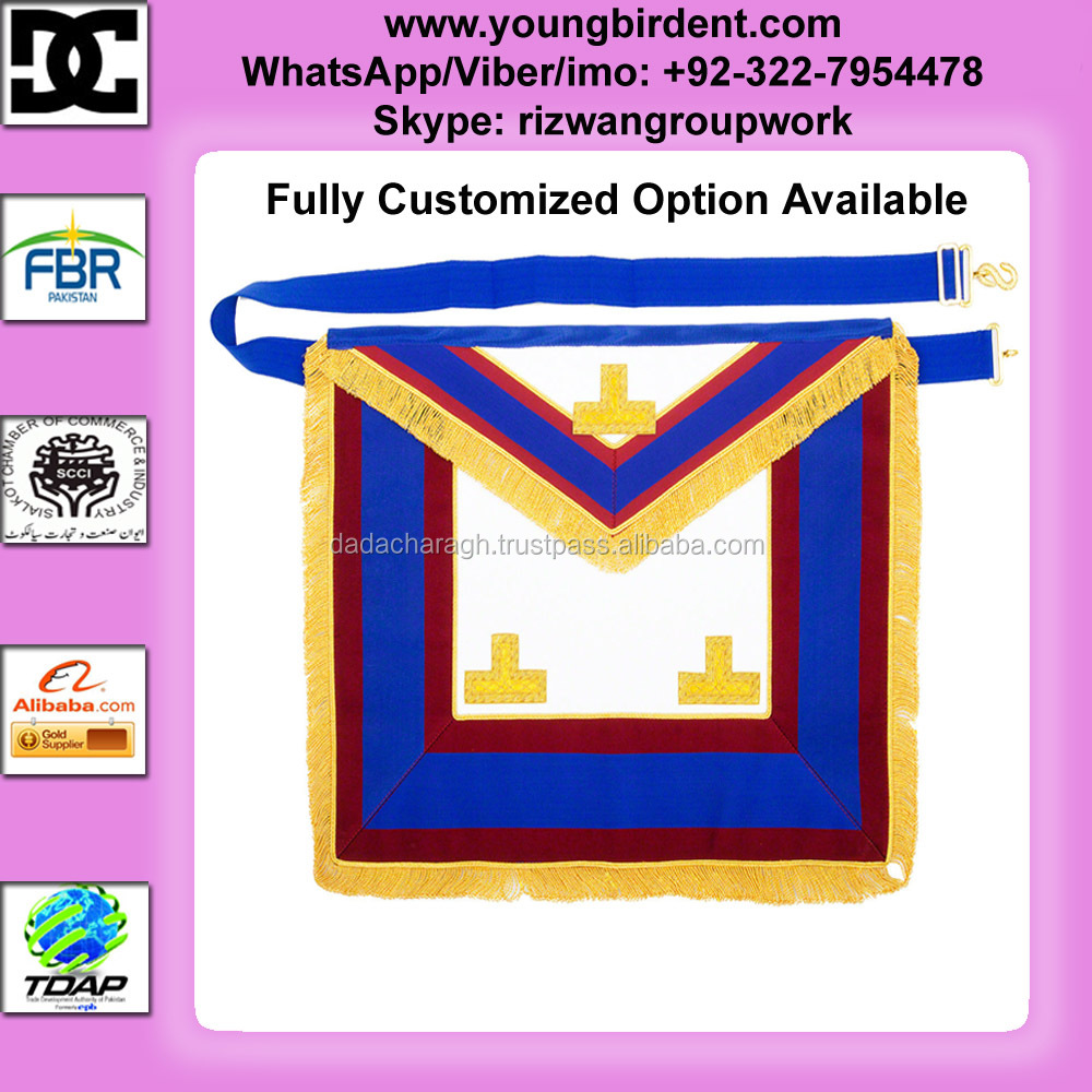 MASONIC MARK REGALIA APRON WITH BULLION BADGES LAMBSKIN MASONIC MARK PROVINCIAL FULL DRESS APRON WITH LEVELS REGALIA MASONS