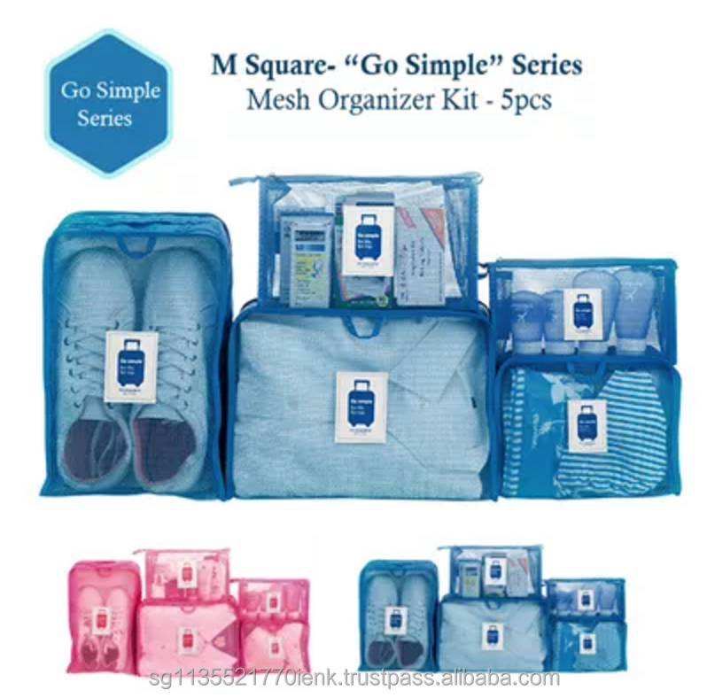 M Square Multi-Functional Go Simple SerieTravel Organizer Kit (5pcs)