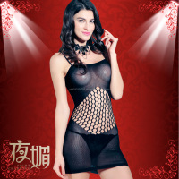 Sex Bondage Underwear Lingerie Transparent Gauze Hollow Tight Pajamas Adult Temptation Font Fishnet