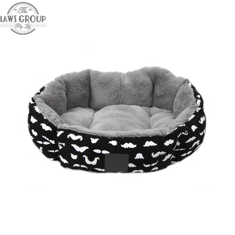 T&S Pet Products Quirky Moustache Pet Bed
