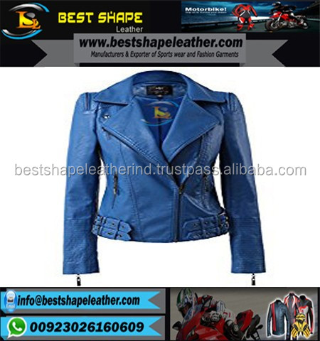 Fashionable Patterns Lady Leather Women Jacket