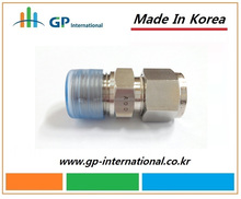 SS316 Male Connector,Instrumentation Compression Tube Fitting,Manufacturer in Korea, High Quality Good price