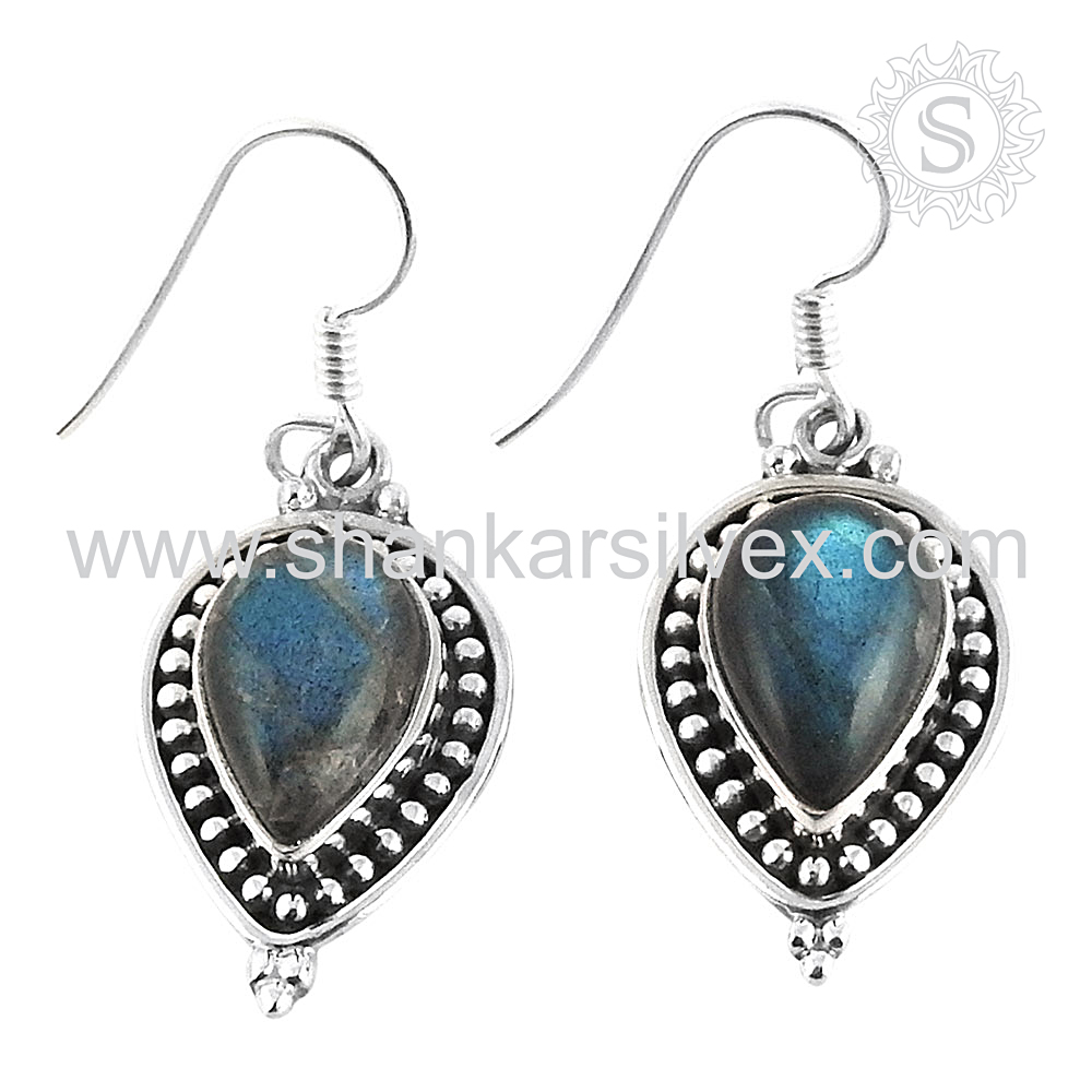 Blissful ! 925 Sterling Silver Jewelry Wholesale, Gemstone Silver 925 Earring, Sterling Silver Jewellery Manufacture