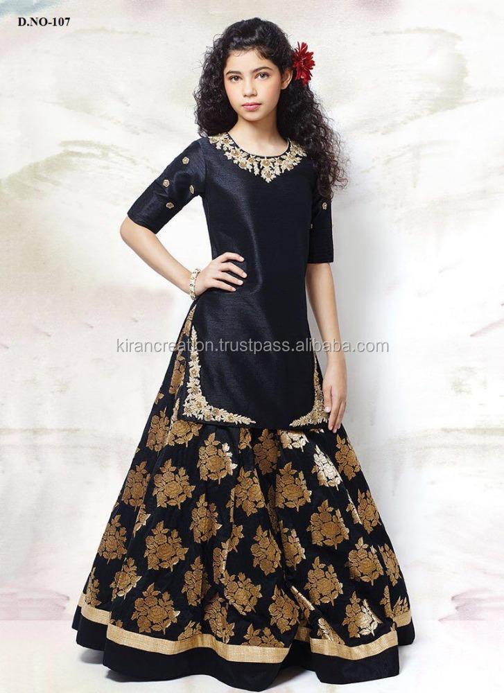 Black Stunning Designer Suit For Girls