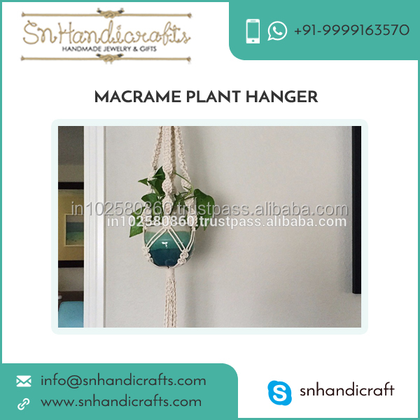 Natural Jute Rope Made Plant Hanger at Reasonable Price