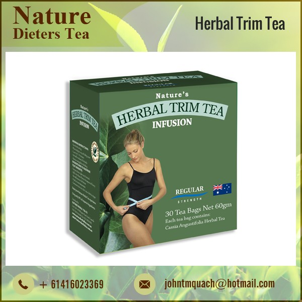 Pure, Organic, Finest and Natural Herbal Trim Slimming Tea with Antioxidants and Nutrients