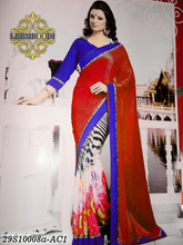 latest saree blouse patterns/kolkata georgette saree/lehenga style saree