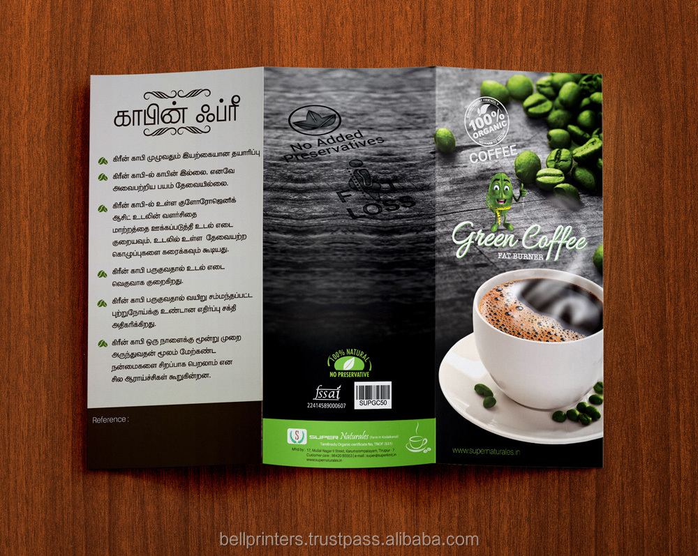 Customized design Promotional 3 Fold Leaflet