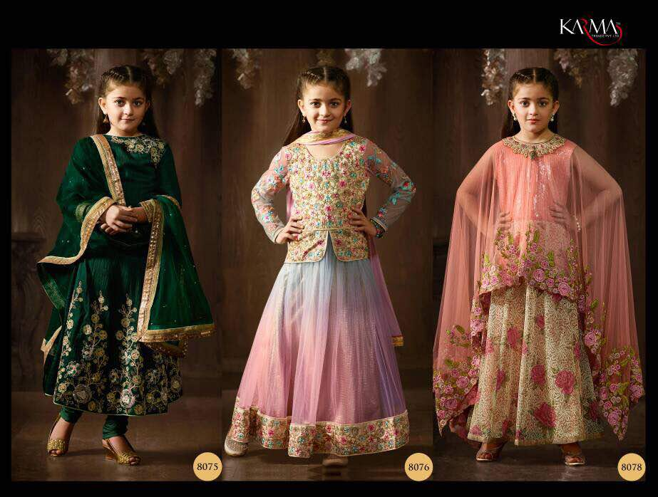 Karma Kids Ethnic Wear Anarkali Dresses Party Wear