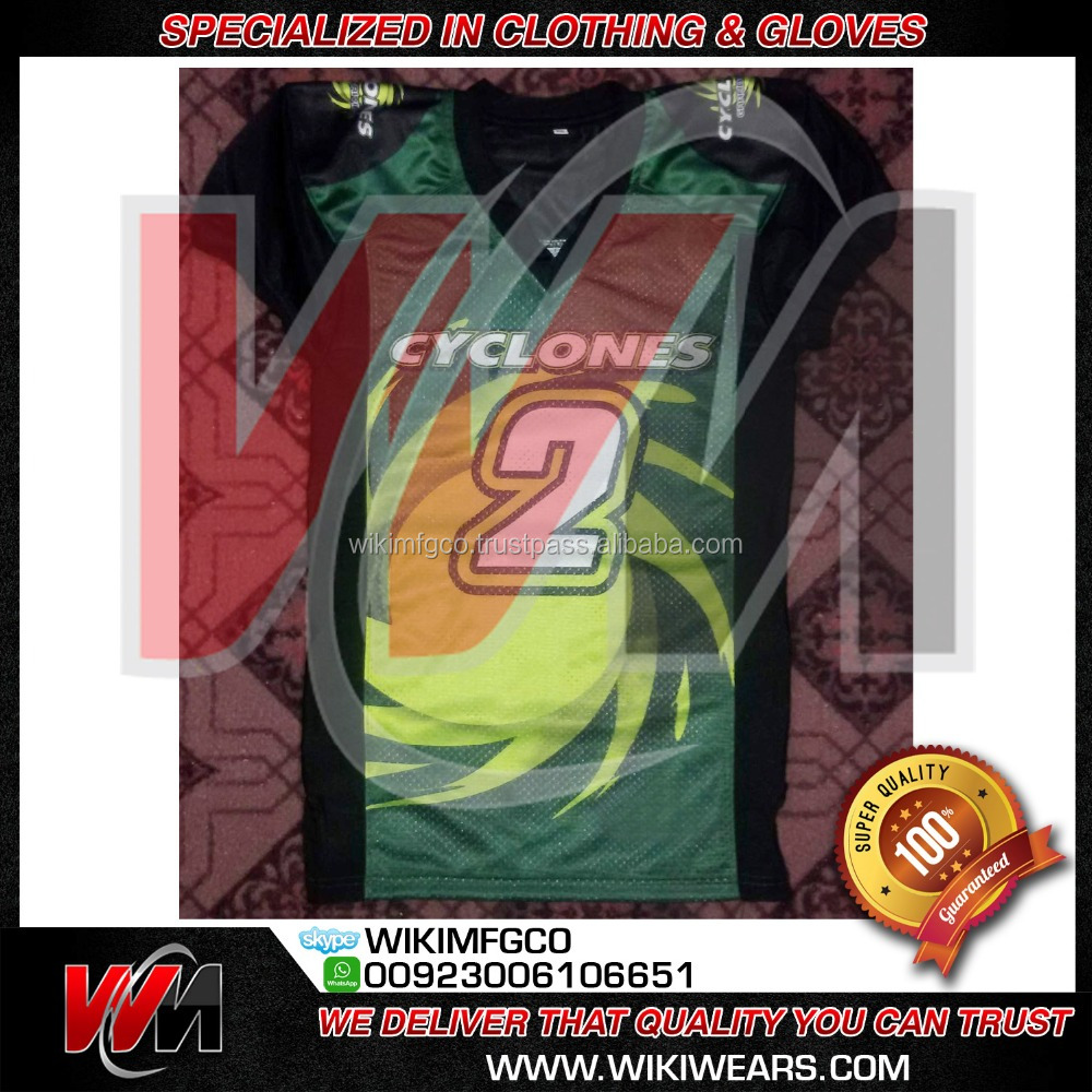 American Football Jersey Cyclones Green, Cheap American Football Jerseys