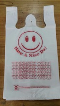 HDPE T shirt plastic bags printed, best price
