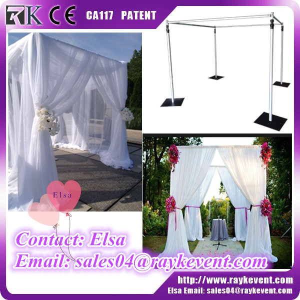 Telescopic camping telescopic tent pole pipe and drape wedding mandap from China factory