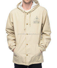 Custom Designs Coach Jackets Made of 100% Nylon Polyester mens hooded windbreaker jacket 100% polyester
