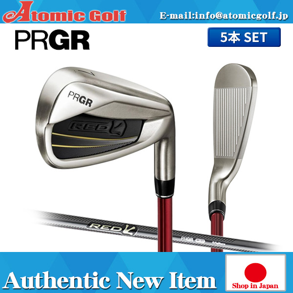 Progear Golf red titanium face irons set original carbon shaft PRGR RED TITAN FACE