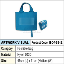 Nylon foldable tote bag / foldable shopping bag