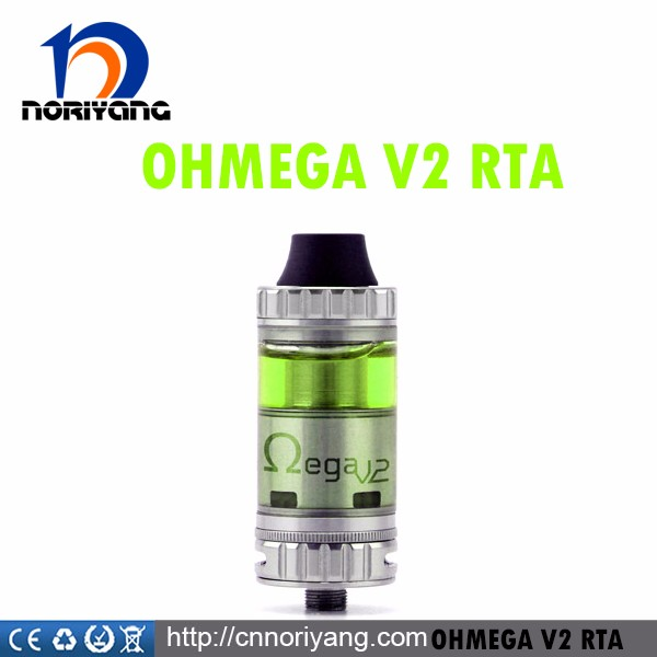 2016 black/sivler ohmega v2 rta atomizer wholesale by advken