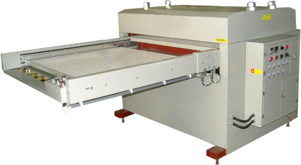 Two station automatic hydrauli press heat transfer machine 1.2mx1m large format sublimation heat press