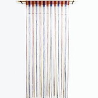 Multicolor Fringed Wall Door Valance Drape Door Room Divider Voile Decorative Curtain India