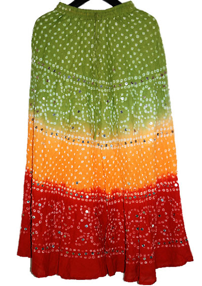 Indian tie and dye Bandhej mini Skirts