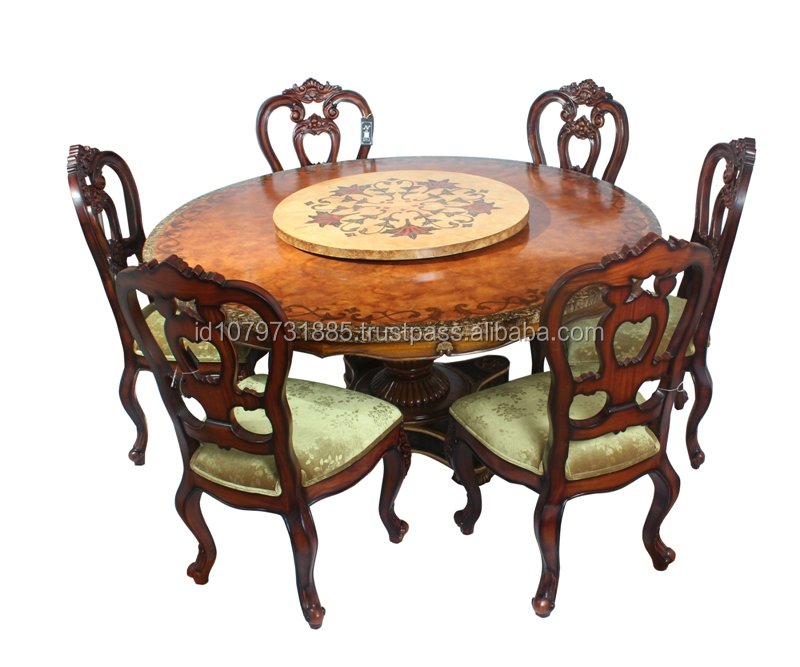 Borduer chair w/Georgian Round Table dining set ( 4 chairs )
