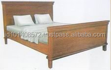 Teak Beds Room Furniture Indoor Modern Design.
