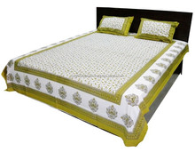 indian Floral 100% cotton custom printed bedsheets custom bed linen Classical 100% Cotton Patch Work Bed Sheets