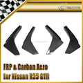 For R35 GTR GT-R Early Model Front bumper canard Fin Chin Splitter (For OEM Front Bumper)