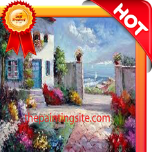 100% handmade oil painting classical flower picture