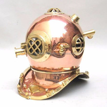Copper Diving helmet - Authentic model Office ship Decor - Indian